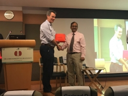 presenting a memento to prof. (dr) john d kelly du