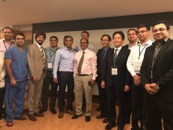 dr anant kumar & team with international faculty (
